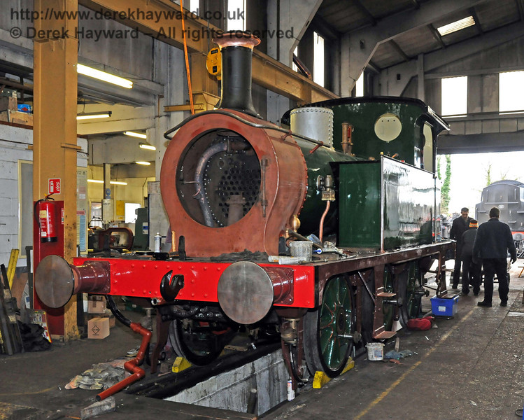 The front nearside of 178. Sheffield Park Workshops 13.02.2010  477