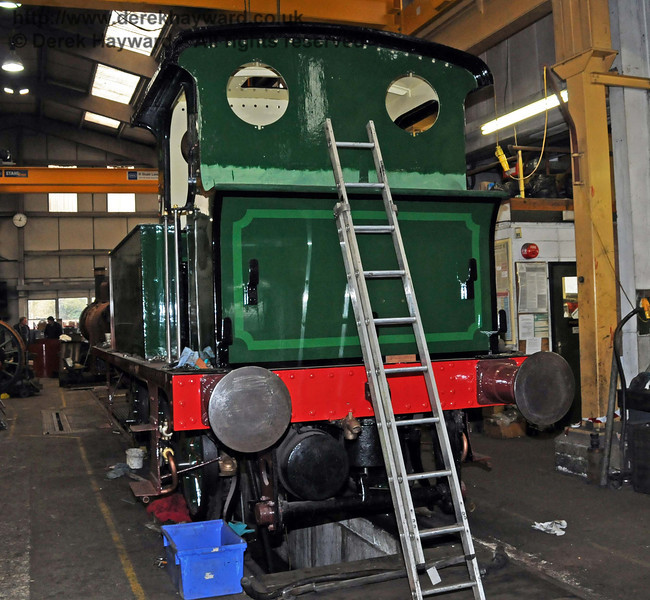 The rear nearside of 178. Sheffield Park Workshops 13.02.2010