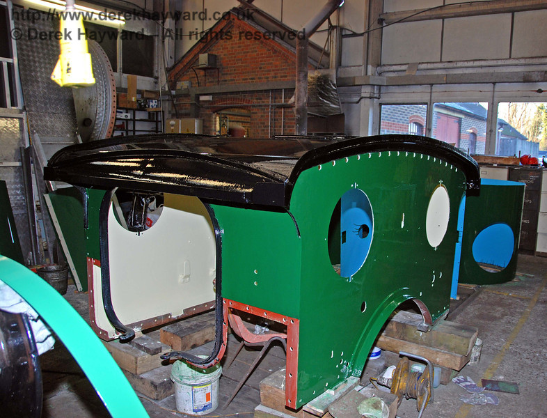 The cab roof from 178 is now in top coat. Sheffield Park Workshops 30.01.2010
