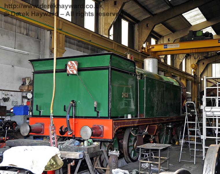 The rear offside of 263. Sheffield Park Workshops 25.03.2012  4120
