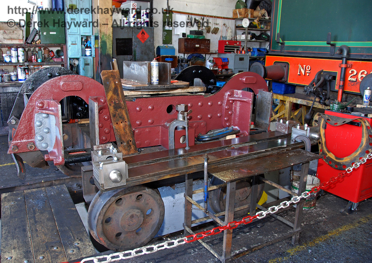 The rear bogie of 263. Sheffield Park Workshops 12.09.2009