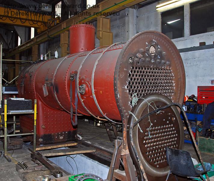 The boiler from 263 in Sheffield Park Workshops. 24.01.2010