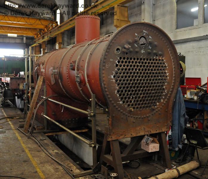 The boiler from 263. Sheffield Park Workshops 07.07.2010  2997