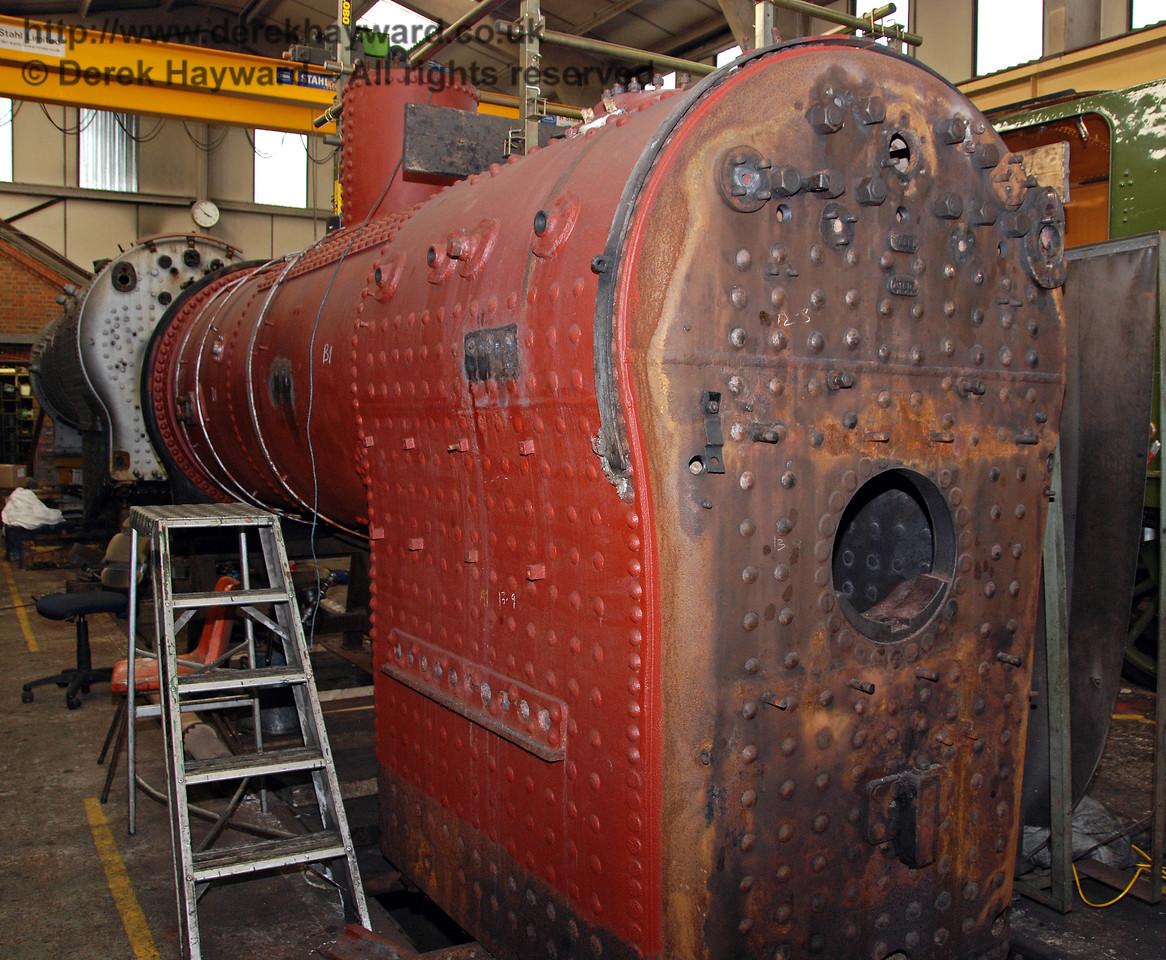 The boiler from 263 in Sheffield Park Workshops. 23.08.2009