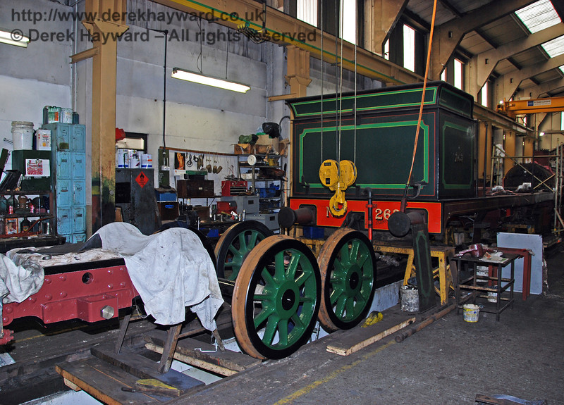 The newly painted and reprofiled wheels sit behind the frames from 263. Sheffield Park Workshops 01.12.2009