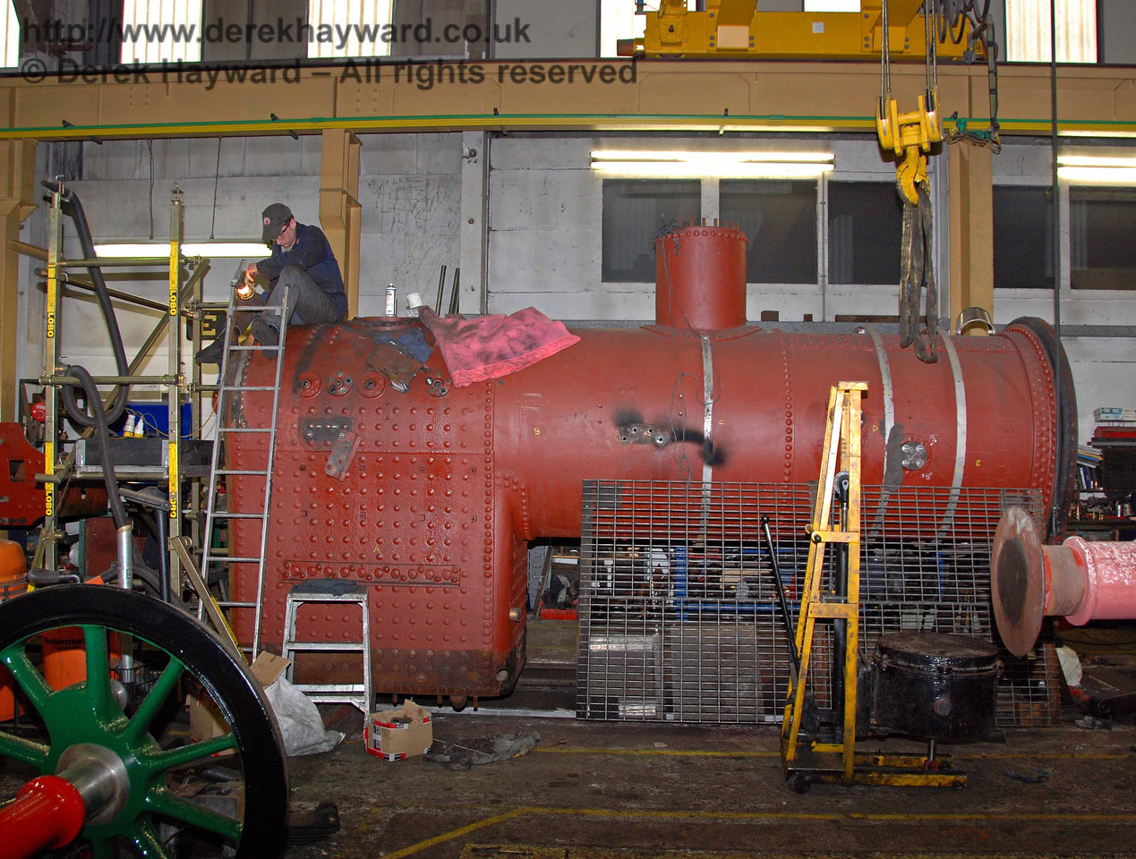 Work was continuing on the boiler from 263. Sheffield Park Workshops 15.11.2009