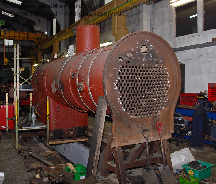 The boiler from 263 in Sheffield Park Workshops 13.12.2009