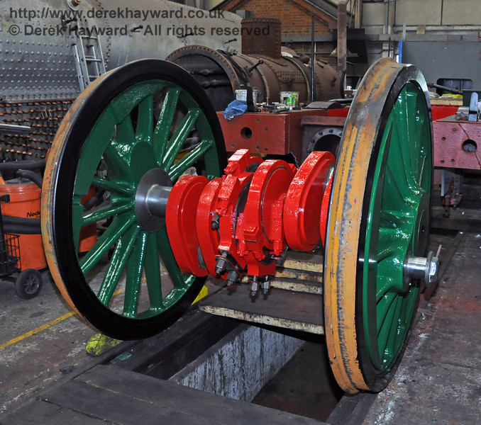 The painted driving wheels from 263. Sheffield Park Workshops 01.05.2010  2205
