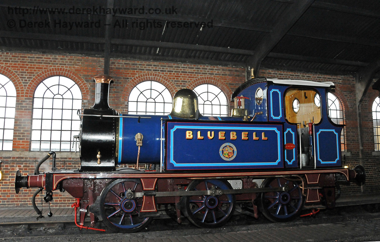 323 Bluebell, released from Workshops and on shed at Sheffield Park.  12.03.2011  6272