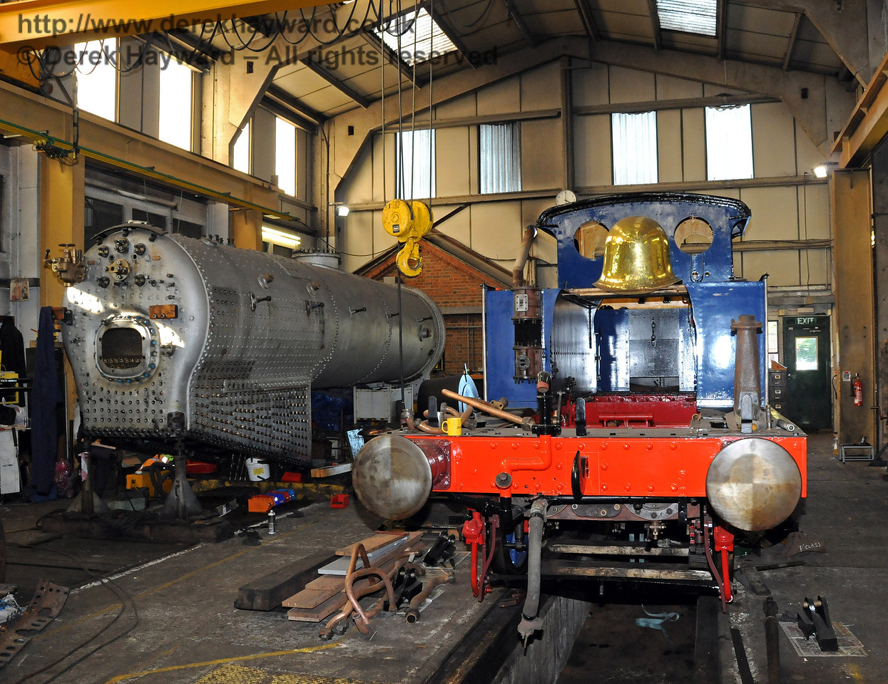 The frames from 323 Bluebell with the boiler from 847 on the left. Sheffield Park Workshops 10.10.2010  5118