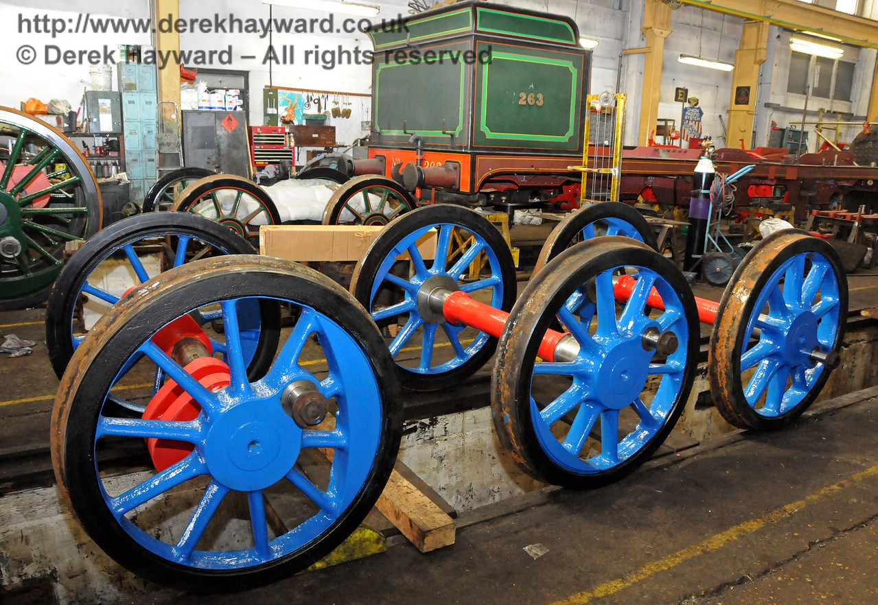The wheels from 323 Bluebell. Sheffield Park Workshops 26.03.2010  1615