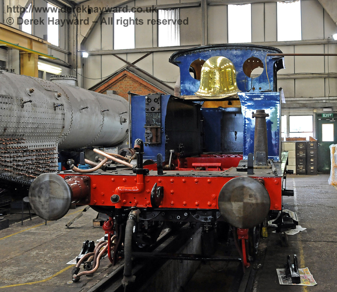 After the 50th Anniversary open days the smokebox was removed from the engine to await fitting of the repaired boiler. 15.08.2010  4061