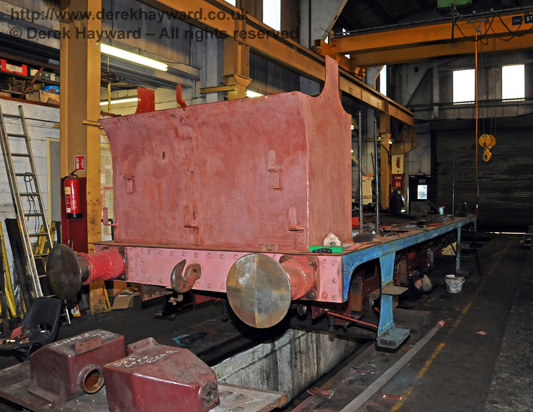 The rear offside of 323. Sheffield Park Workshops 06.03.2010  1138