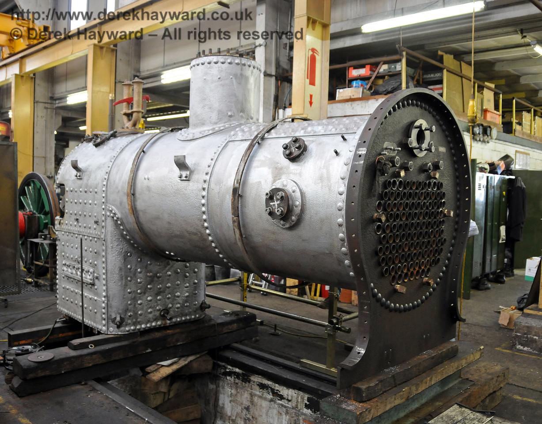 The boiler from 323 Bluebell. Sheffield Park Workshops 25.07.2010  3398