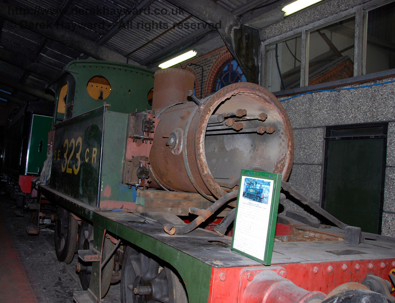SECR Wainwright P-class tank 323, formerly Bluebell, pictured in more limited space on 01.01.2007