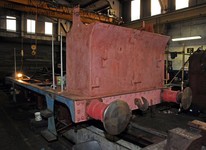 The rear nearside of 323. Sheffield Park Workshops 06.03.2010  1136