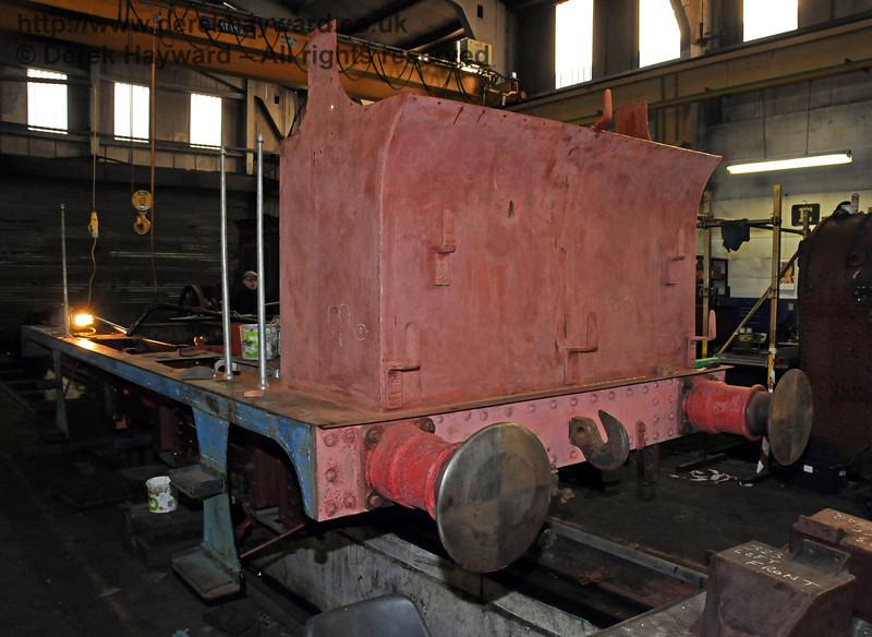 The rear nearside of 323. Sheffield Park Workshops 06.03.2010  1136