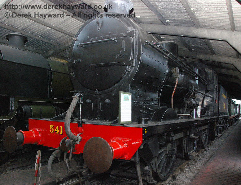 SR Maunsell Q Class, 541, on display within Sheffield Park Shed. 01.01.2007