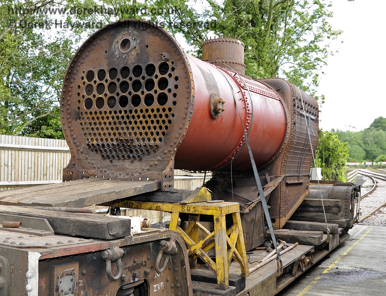 The boiler from 541 outside Sheffield Park Workshops.  16.06.2012  5128