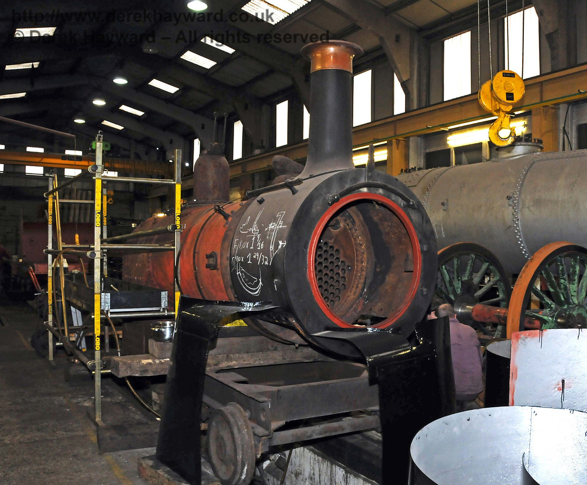 Stepney's boiler in Sheffield Park Workshops. 27.02.2010  965