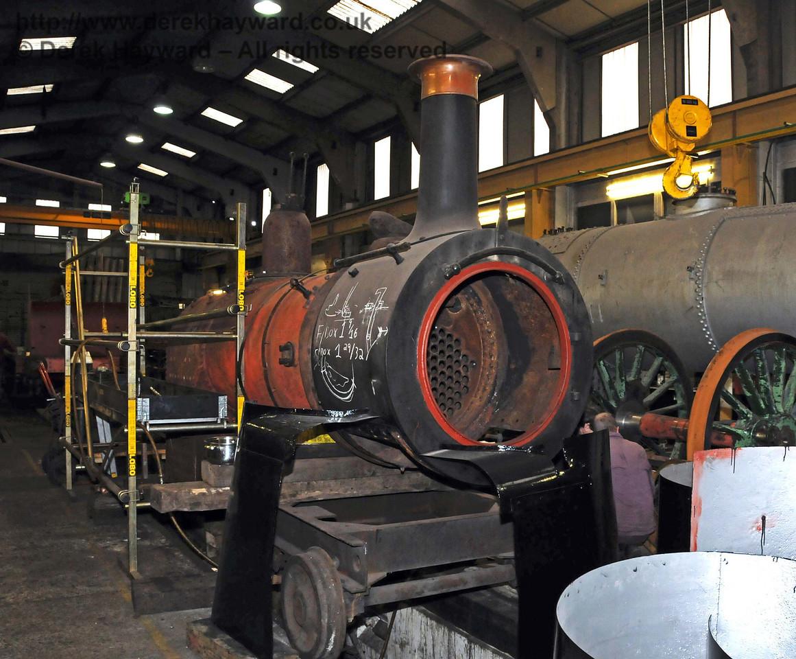 Stepney's boiler in Sheffield Park Workshops. 27.02.2010  965