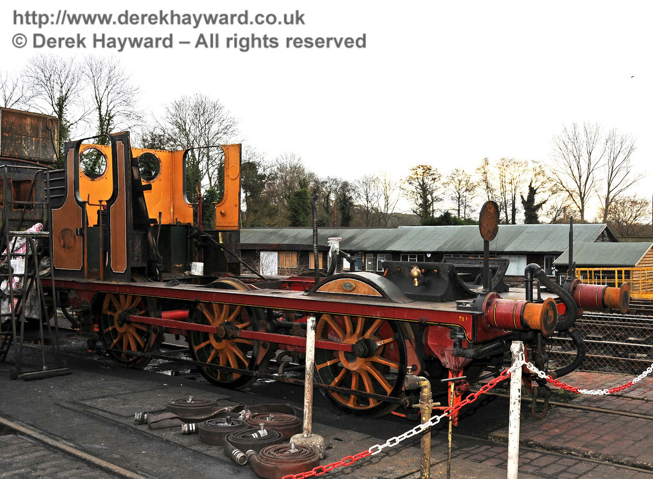 The frames from Stepney remain outside Sheffield Park Shed. 20.02.2010  655