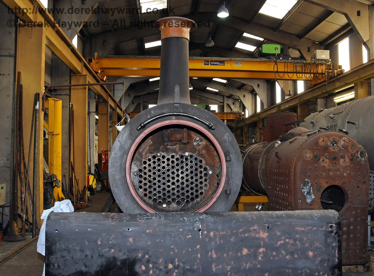 The installation of new boiler tubes in Stepney has been completed. Sheffield Park Workshops 11.04.2010  1832