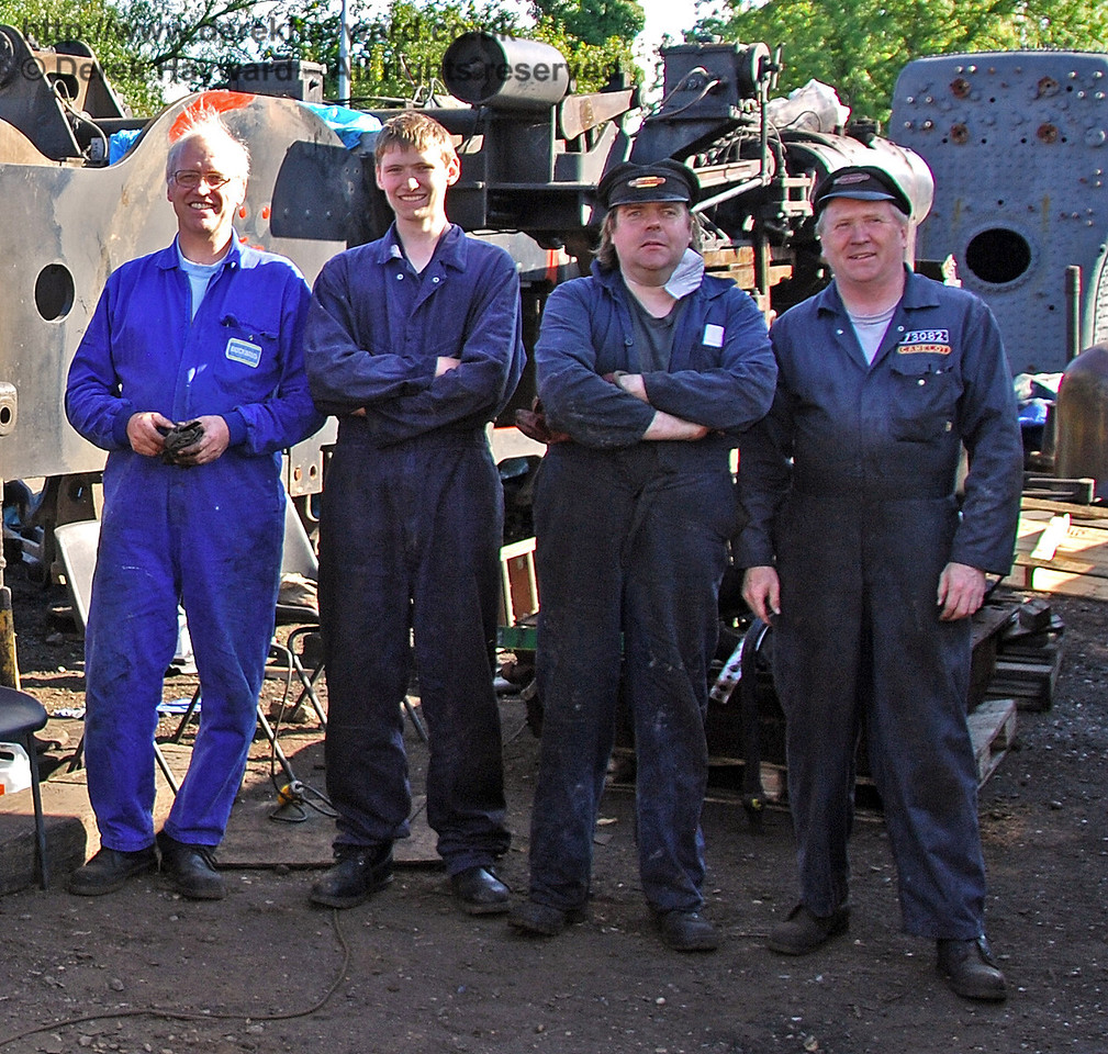 The 73082 Camelot team. Sheffield Park Workshops 12.09.2009