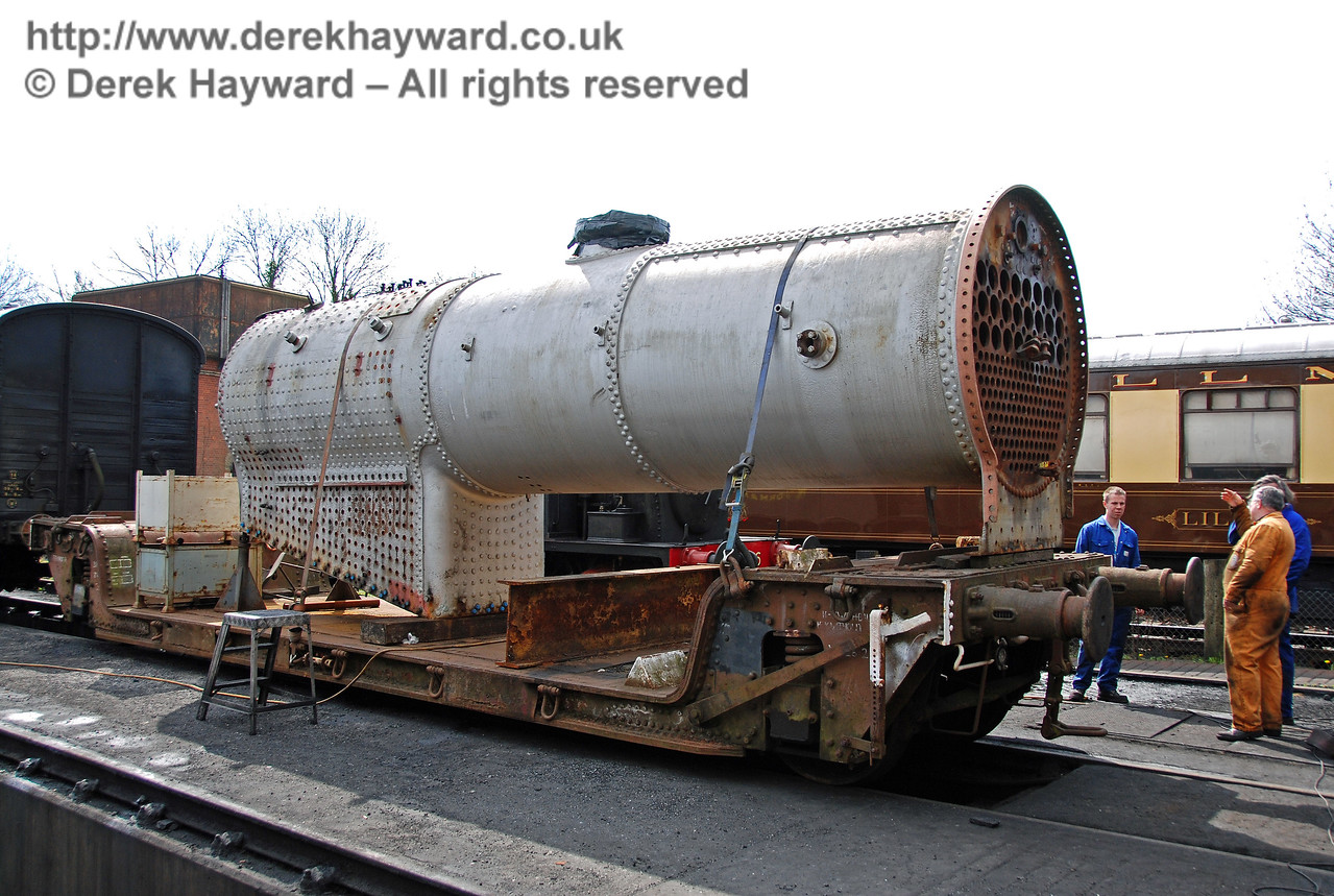 In April 2008 the boiler from 847 had been moved out of Sheffield Park Workshops. 10.04.2008
