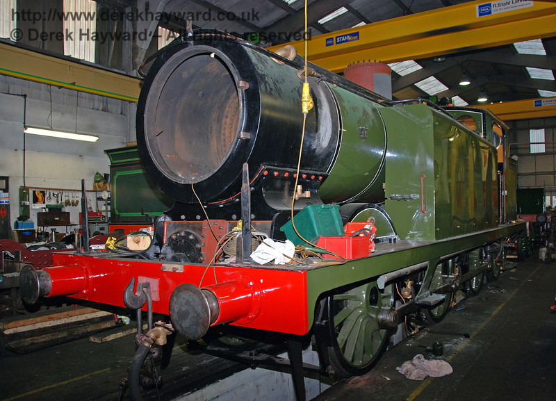 Work continues on B473. Sheffield Park Workshops 15.11.2009