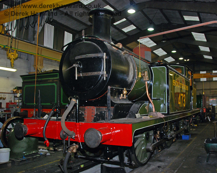 B473 still has some work outstanding. Sheffield Park Workshops 13.12.2009