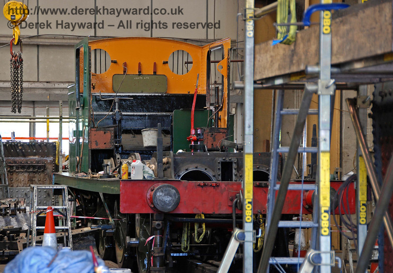 The frames from B473 under overhaul in Sheffield Park Workshops.  You will notice that they are now green rather than black.  27.06.2009