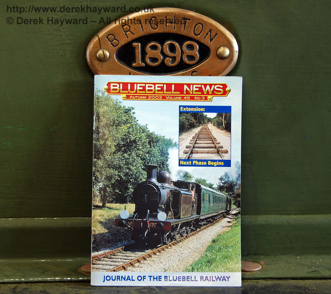 Someone had left a copy of Bluebell News dated Autumn 2003 on B473. The picture and the inset about the extension seemed particularly appropriate. Sheffield Park Workshops 12.09.2009