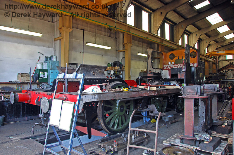 Work continues on the frames from B473. Sheffield Park Workshops 09.05.2009