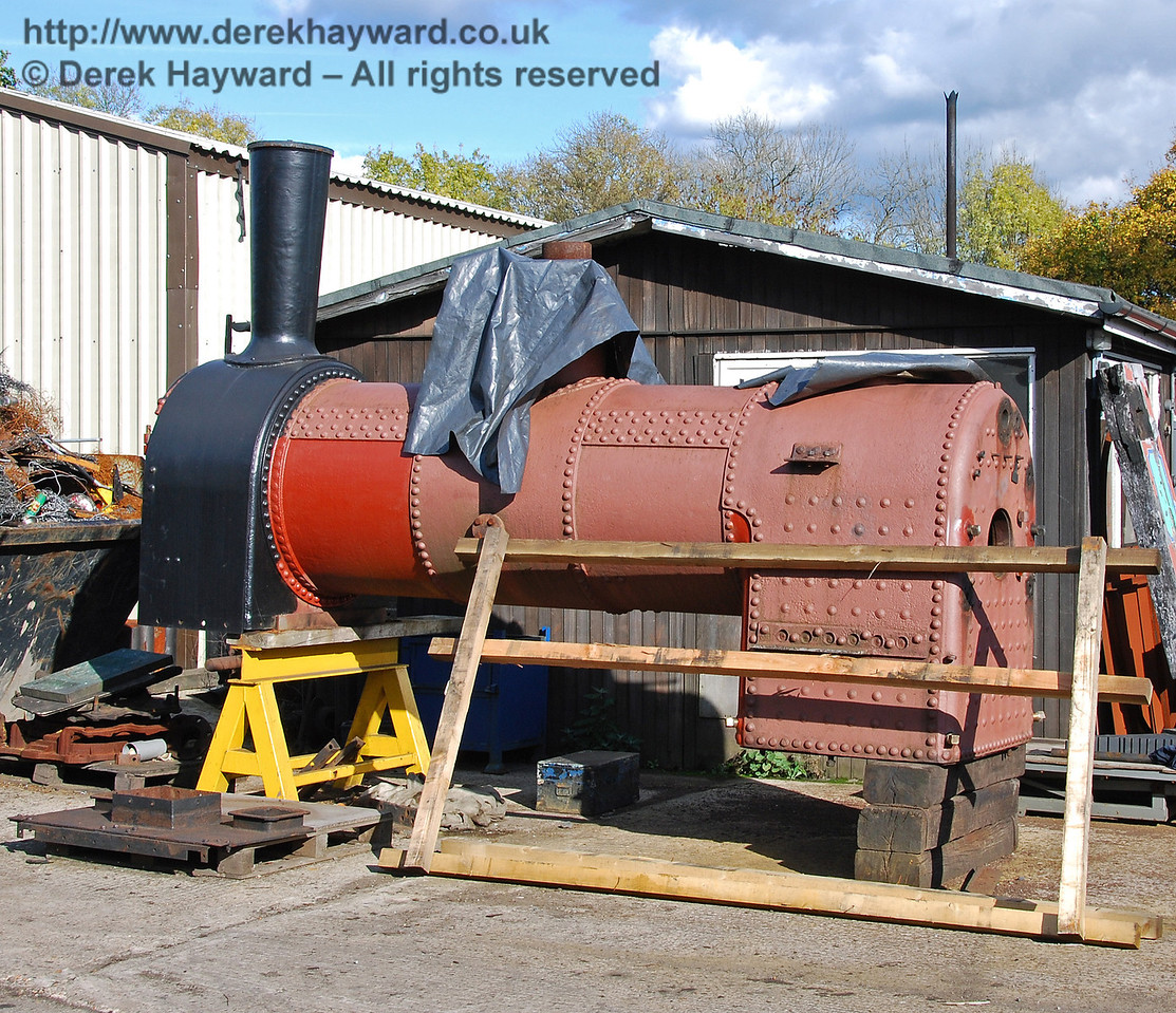 Progress on the boiler and smokebox for Baxter. Sheffield Park Shed 17.10.2008