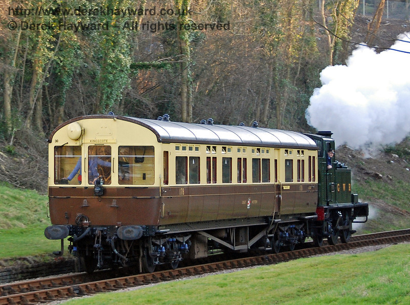 1450 pushes the Auto-coach north from West Hoathly tunnel. 09.02.2008