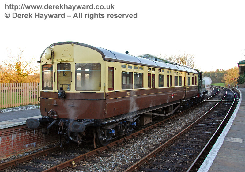 The GWR Auto-coach stands at Kingscote. 09.02.2008