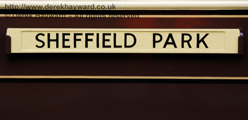 One of the Sheffield Park destination boards on the side of the Auto-coach. Branch Line Weekend 24.02.2008