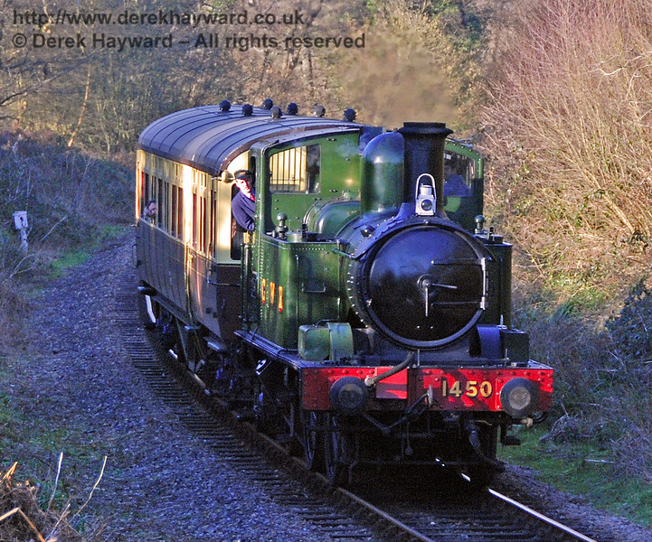 The GWR Auto train meanders south through Lindfield Wood. 09.02.2008