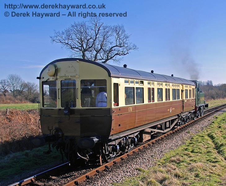 The Auto train runs south towards Sheffield Park. 10.02.2008