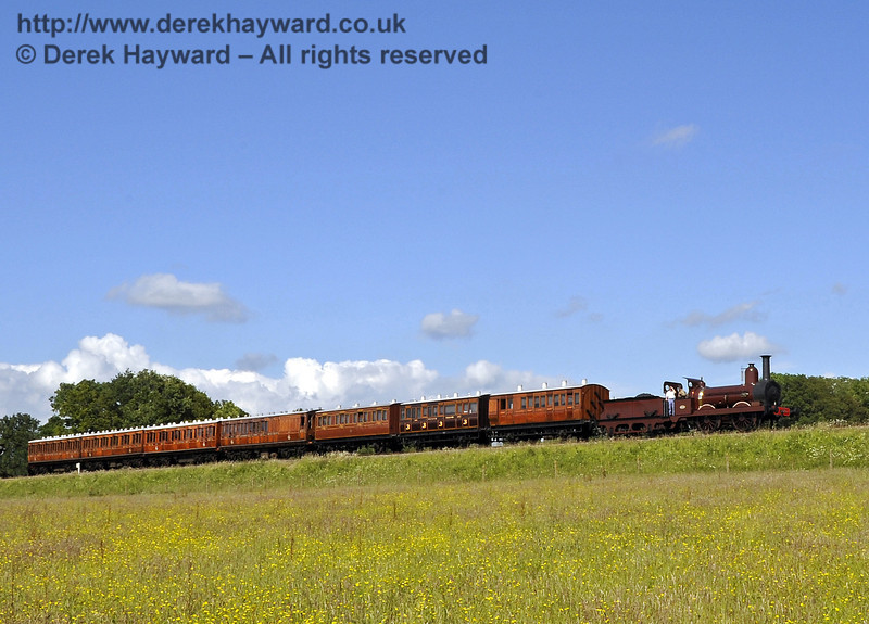 Furness Railway No.20 hauling empty stock from a private filming charter south of Horsted Keynes. 19.06.2012  5192