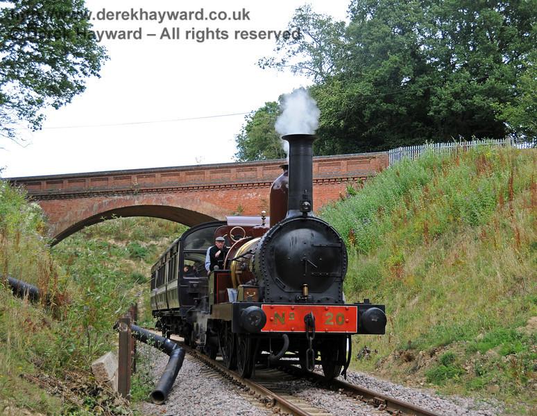 Furness Railway No.20 at Imberhorne Lane. 07.08.2010  3781
