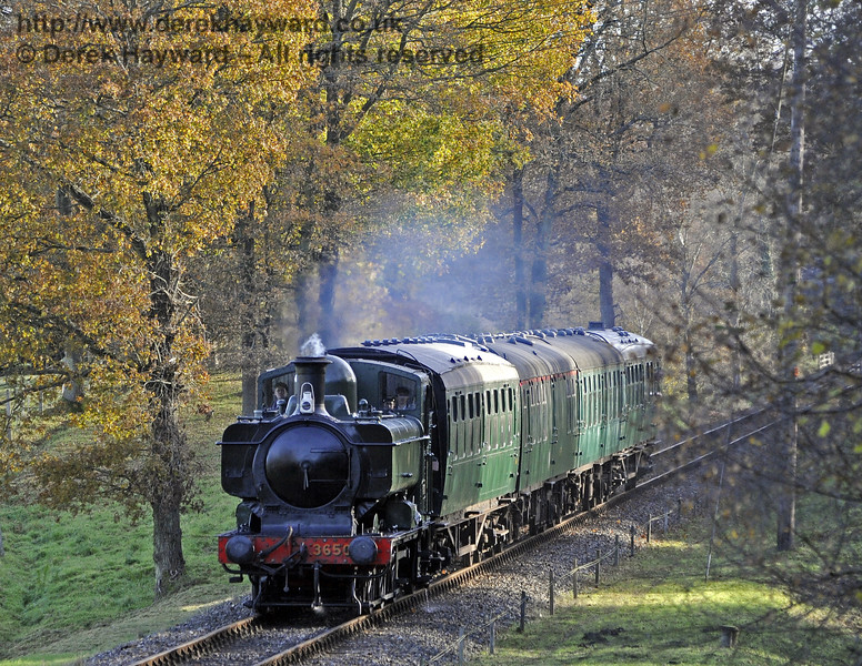 3650 passes through Mill Place cutting.  18.11.2012  8347