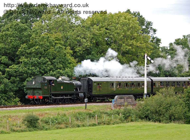 5199 leaves Horsted Keynes with a service train. 16.08.2008