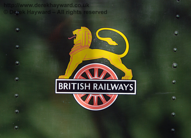 The British Railways legend on the side of the locomotive. 01.05.2008