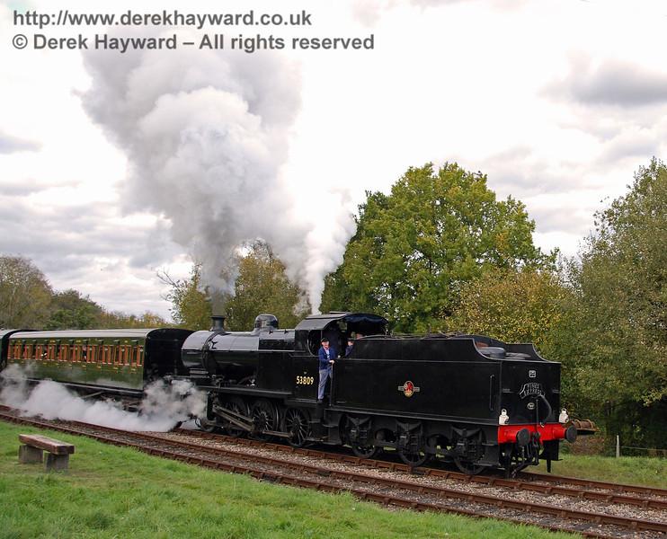 53809 gets under way at Kingscote. 18.10.2008