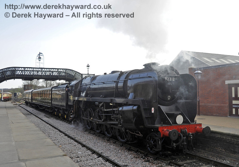 92212 on test at Sheffield Park prior to entering passenger service.  03.04.2012  4256