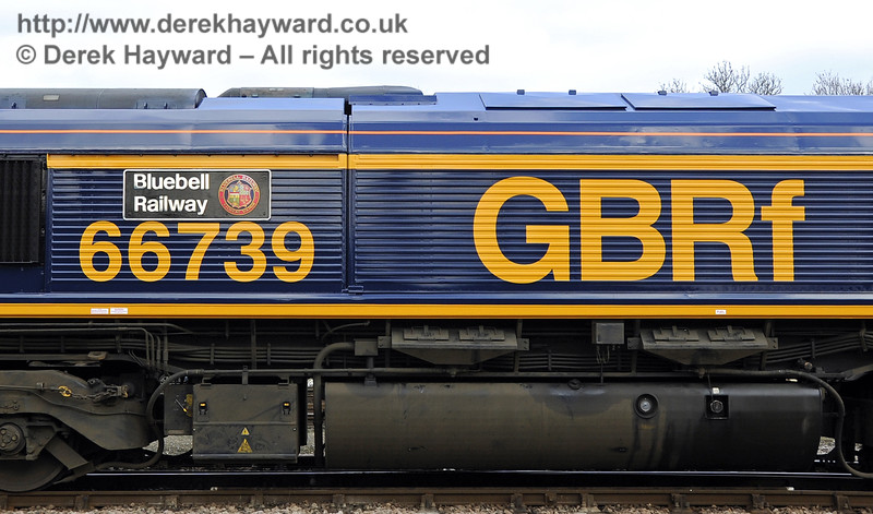 "The nameplate on 66739 ""Bluebell Railway"".  28.03.2013  6476"