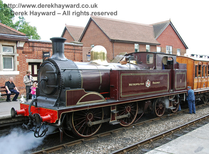 Metropolitan Railway No.1 waits at Sheffield Park. 28.07.2007
