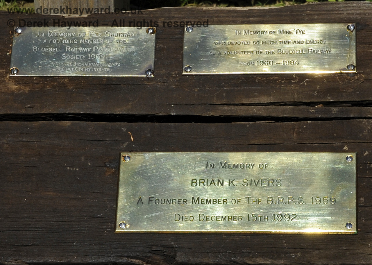 Some of the memorial plaques in the Garden.  26.06.2011  2047